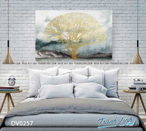 Tranh canvas treo tuong trang tri phong ngu phong canh truu tuong 36