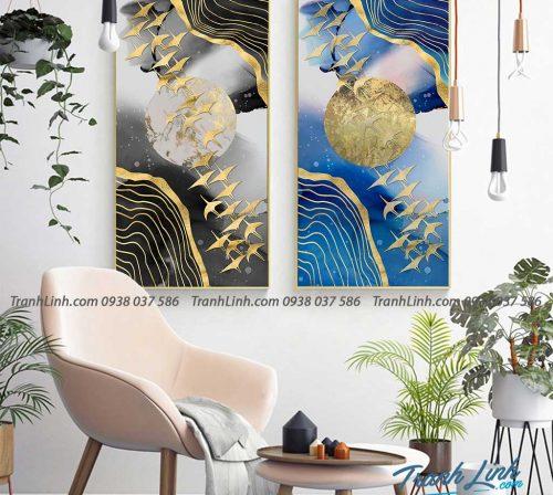 Tranh canvas treo tuong trang tri phong ngu phong canh truu tuong 54