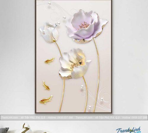 tranh canvas hoa treo tuong trang tri cau thang 4