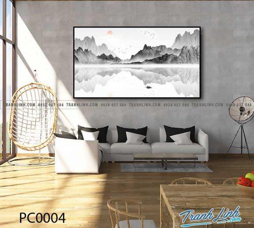 Bo tranh Canvas treo tuong trang tri phong khach phong canh PC0004