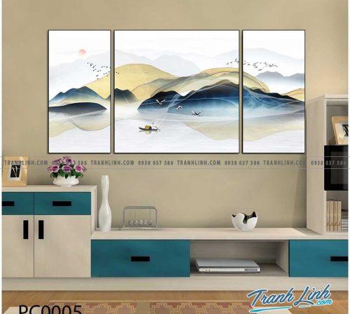 Bo tranh Canvas treo tuong trang tri phong khach phong canh PC0005