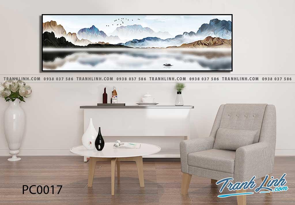 Bo tranh Canvas treo tuong trang tri phong khach phong canh PC0017