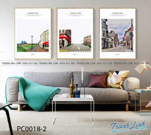 Bo tranh Canvas treo tuong trang tri phong khach phong canh PC0018 1
