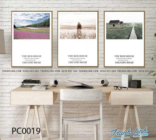 Bo tranh Canvas treo tuong trang tri phong khach phong canh PC0019