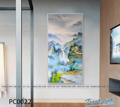 Bo tranh Canvas treo tuong trang tri phong khach phong canh PC0022