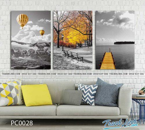 Bo tranh Canvas treo tuong trang tri phong khach phong canh PC0028