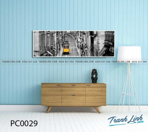 Bo tranh Canvas treo tuong trang tri phong khach phong canh PC0029