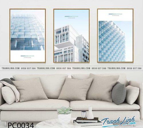 Bo tranh Canvas treo tuong trang tri phong khach phong canh PC0034 1
