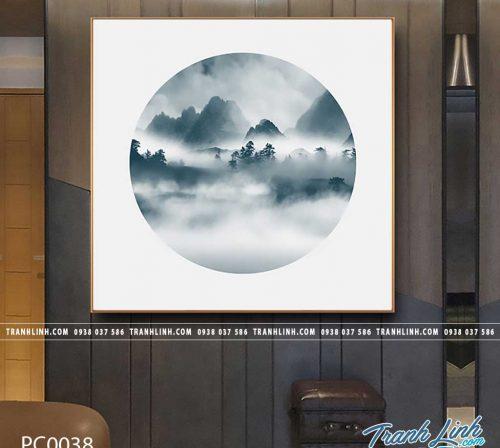 Bo tranh Canvas treo tuong trang tri phong khach phong canh PC0038
