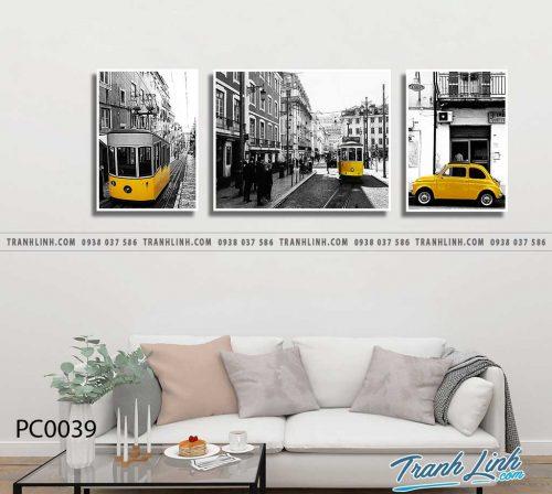 Bo tranh Canvas treo tuong trang tri phong khach phong canh PC0039