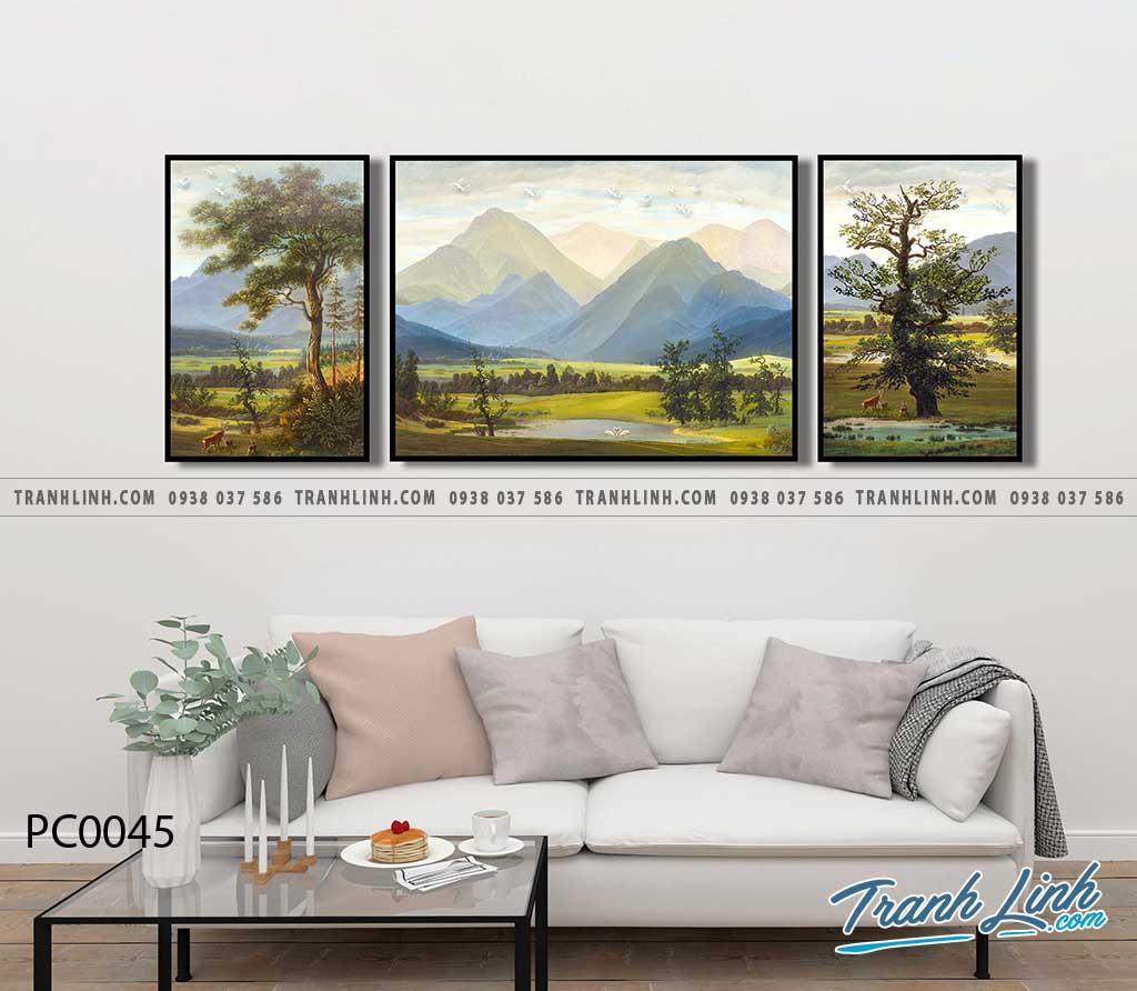 Bo tranh Canvas treo tuong trang tri phong khach phong canh PC0045