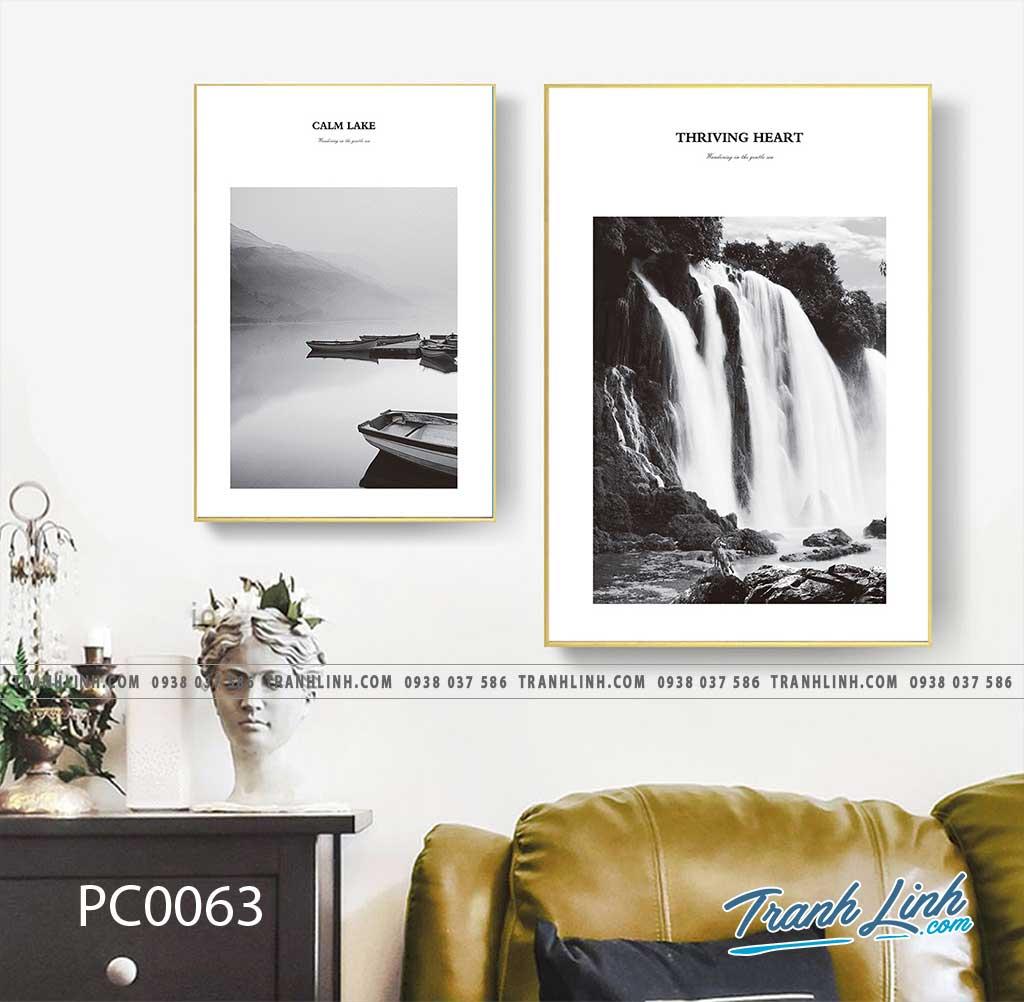 Bo tranh Canvas treo tuong trang tri phong khach phong canh PC0063