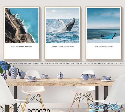Bo tranh Canvas treo tuong trang tri phong khach phong canh PC0070