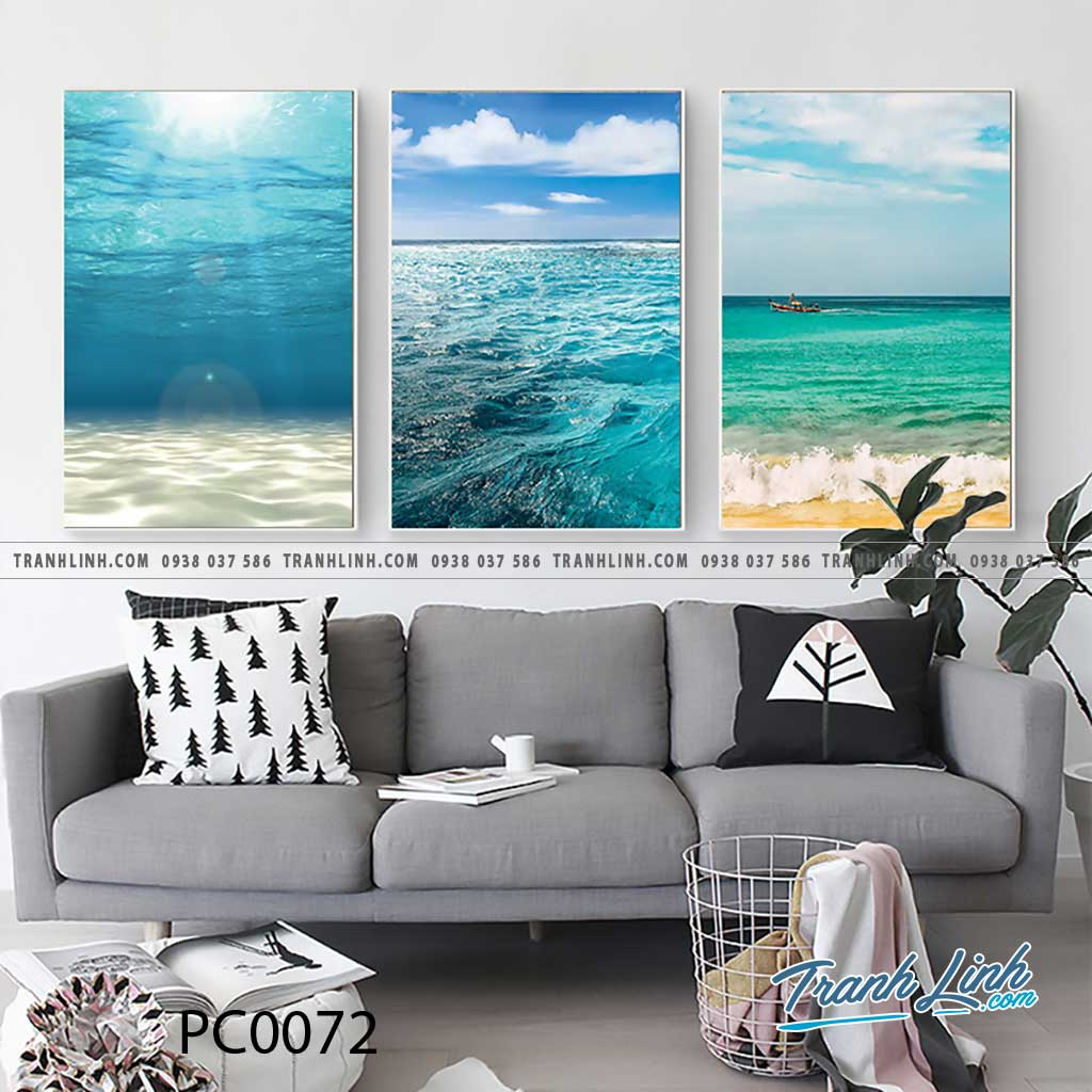 Bo tranh Canvas treo tuong trang tri phong khach phong canh PC0072