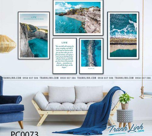 Bo tranh Canvas treo tuong trang tri phong khach phong canh PC0073