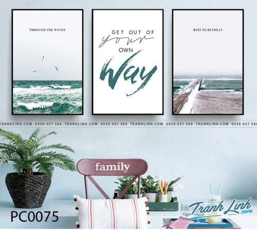 Bo tranh Canvas treo tuong trang tri phong khach phong canh PC0075