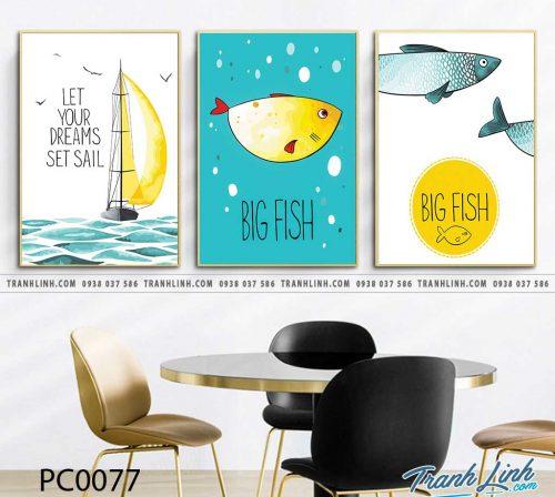 Bo tranh Canvas treo tuong trang tri phong khach phong canh PC0077