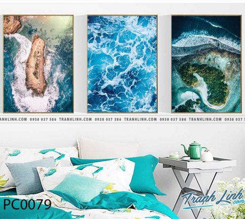 Bo tranh Canvas treo tuong trang tri phong khach phong canh PC0079