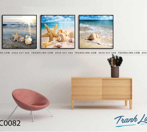 Bo tranh Canvas treo tuong trang tri phong khach phong canh PC0082