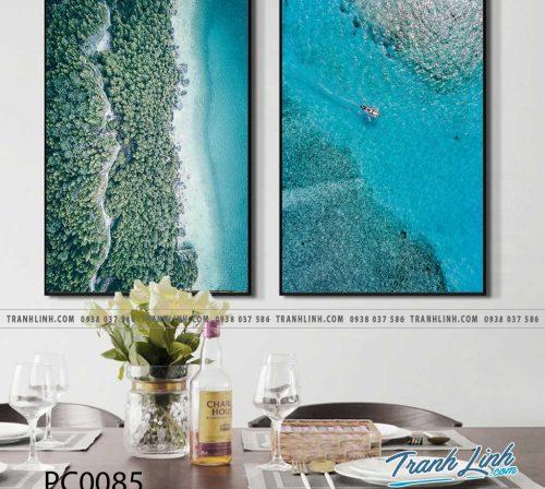Bo tranh Canvas treo tuong trang tri phong khach phong canh PC0085