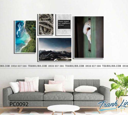 Bo tranh Canvas treo tuong trang tri phong khach phong canh PC0092