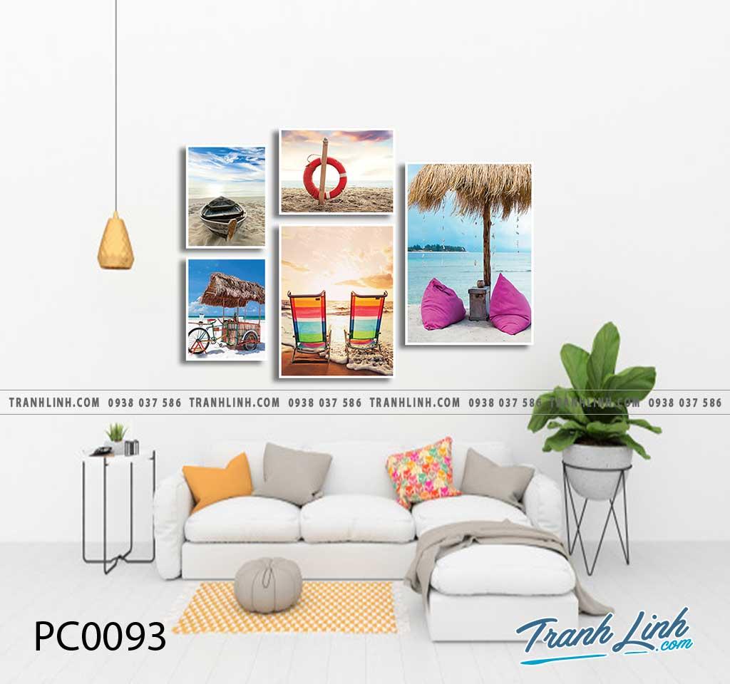 Bo tranh Canvas treo tuong trang tri phong khach phong canh PC0093
