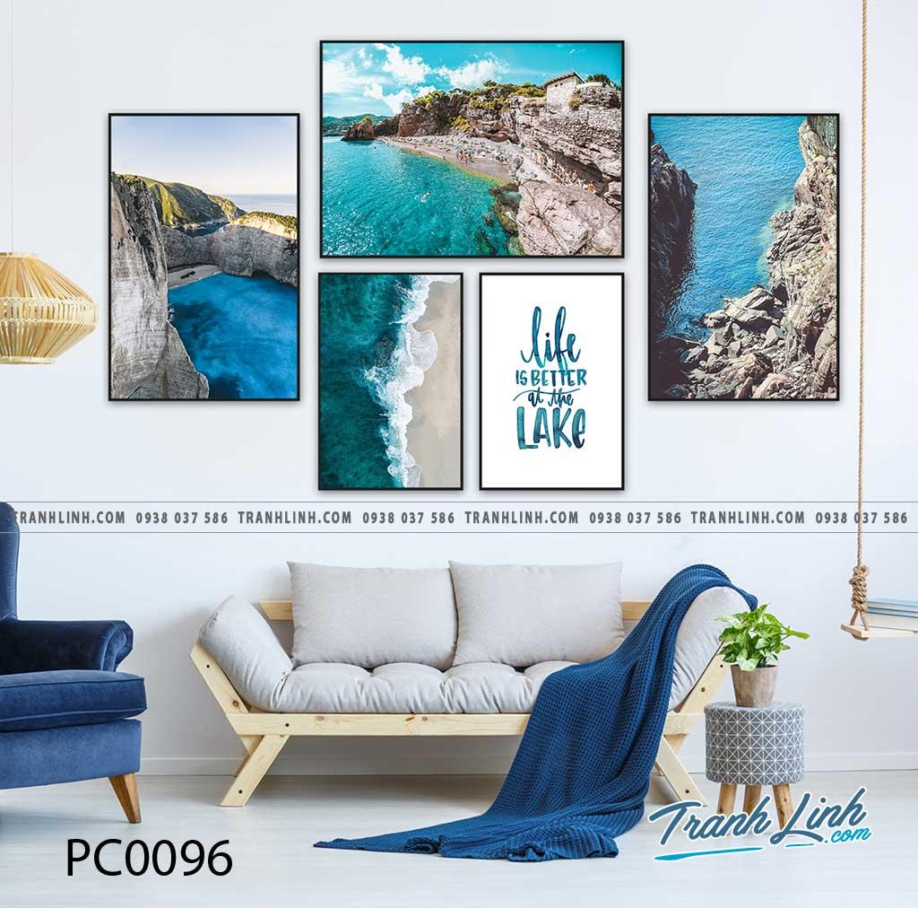 Bo tranh Canvas treo tuong trang tri phong khach phong canh PC0096