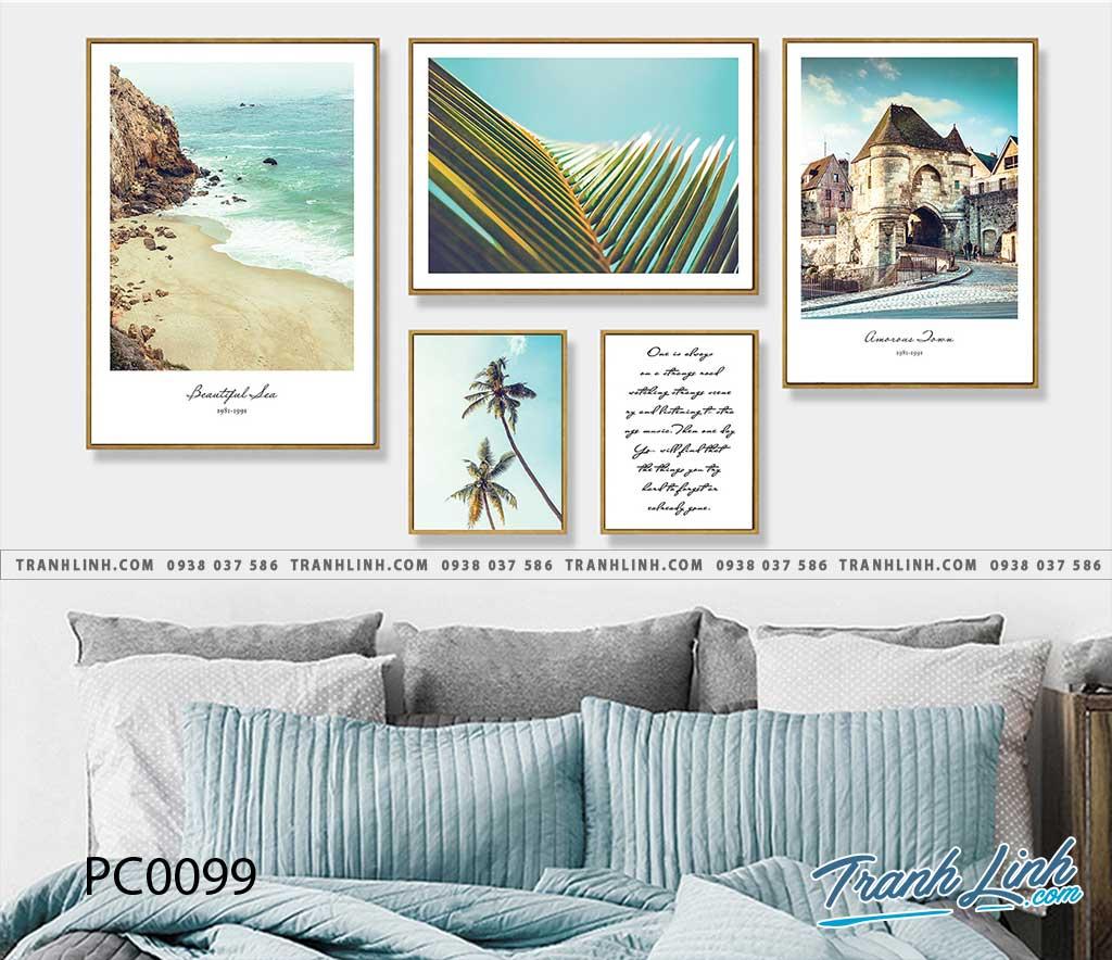Bo tranh Canvas treo tuong trang tri phong khach phong canh PC0099