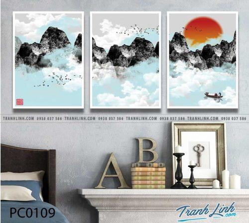 Bo tranh Canvas treo tuong trang tri phong khach phong canh PC0109