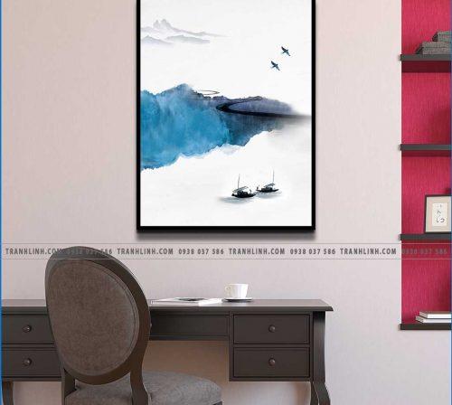Bo tranh Canvas treo tuong trang tri phong khach phong canh PC0113