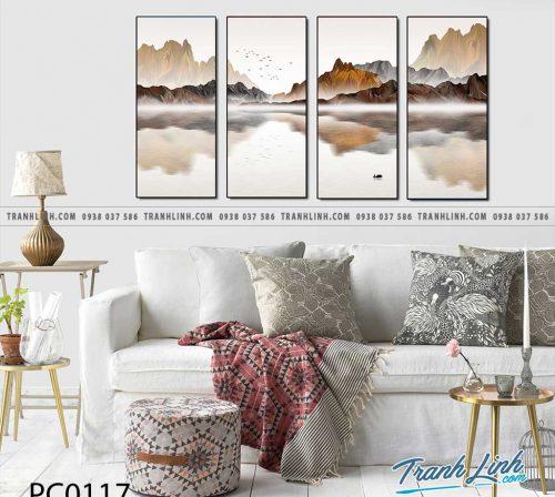 Bo tranh Canvas treo tuong trang tri phong khach phong canh PC0117