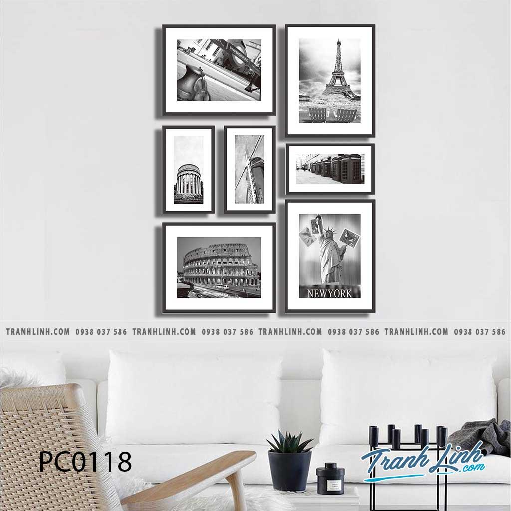 Bo tranh Canvas treo tuong trang tri phong khach phong canh PC0118