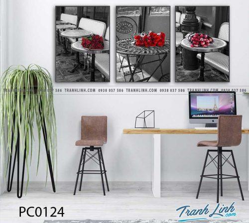 Bo tranh Canvas treo tuong trang tri phong khach phong canh PC0124