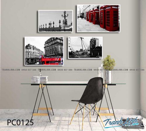 Bo tranh Canvas treo tuong trang tri phong khach phong canh PC0125