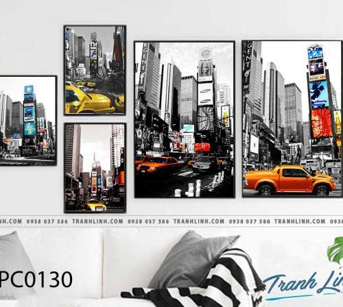 Bo tranh Canvas treo tuong trang tri phong khach phong canh PC0130