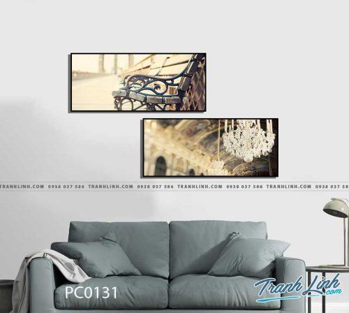 Bo tranh Canvas treo tuong trang tri phong khach phong canh PC0131