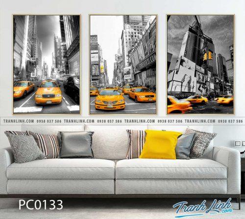 Bo tranh Canvas treo tuong trang tri phong khach phong canh PC0133