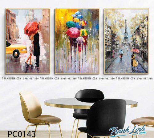 Bo tranh Canvas treo tuong trang tri phong khach phong canh PC0143