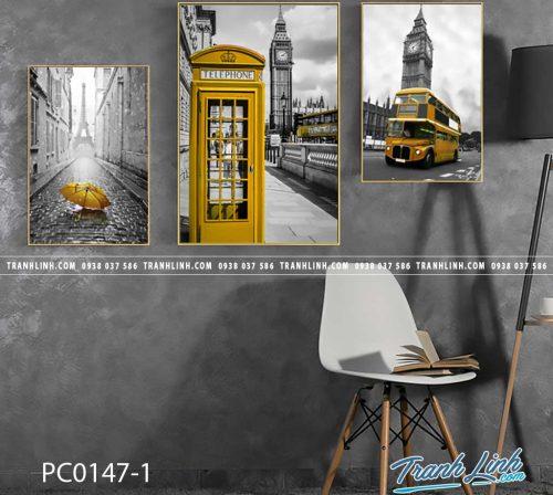 Bo tranh Canvas treo tuong trang tri phong khach phong canh PC0147 1