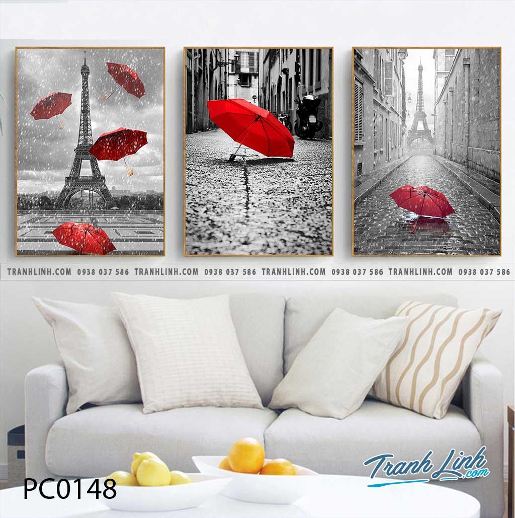 Bo tranh Canvas treo tuong trang tri phong khach phong canh PC0148