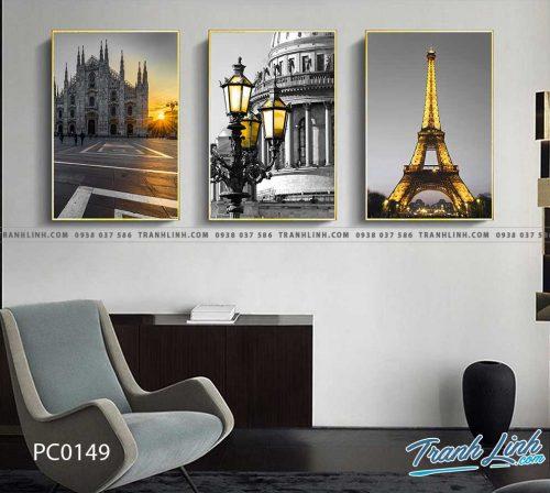 Bo tranh Canvas treo tuong trang tri phong khach phong canh PC0149
