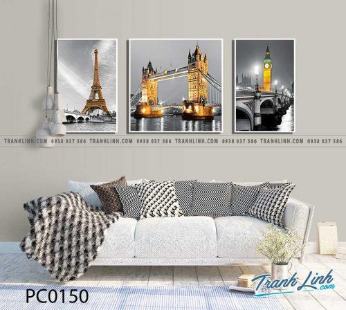 Bo tranh Canvas treo tuong trang tri phong khach phong canh PC0150