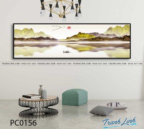 Bo tranh Canvas treo tuong trang tri phong khach phong canh PC0156