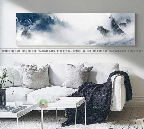 Bo tranh Canvas treo tuong trang tri phong khach phong canh PC0166