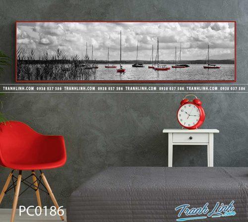 Bo tranh Canvas treo tuong trang tri phong khach phong canh PC0186