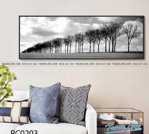 Bo tranh Canvas treo tuong trang tri phong khach phong canh PC0203