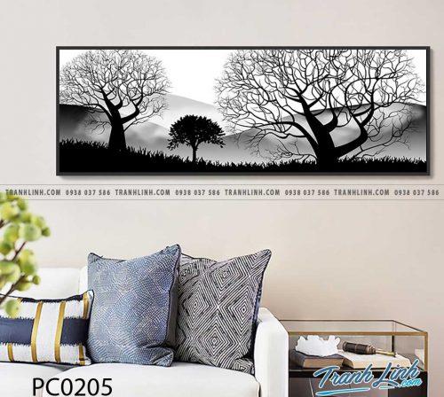 Bo tranh Canvas treo tuong trang tri phong khach phong canh PC0205
