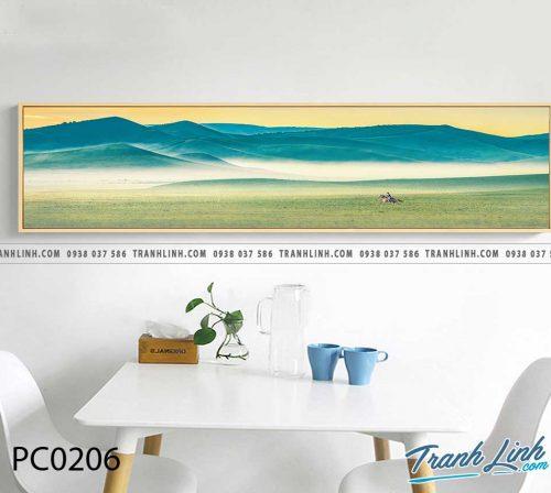 Bo tranh Canvas treo tuong trang tri phong khach phong canh PC0206