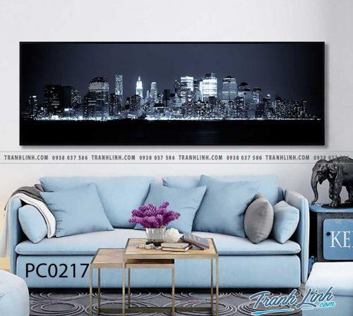 Bo tranh Canvas treo tuong trang tri phong khach phong canh PC0217
