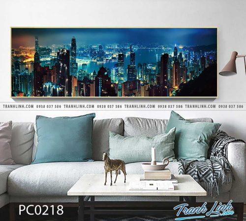 Bo tranh Canvas treo tuong trang tri phong khach phong canh PC0218